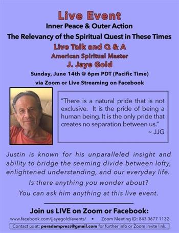 Inner Peace And Outer Action The Relevancy Of The Spiritual Quest In These Times Grass Valley Events