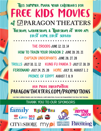 Miami On The Cheap >> Free Kids Movies This Summer At Paragon Theaters Miami On The Cheap