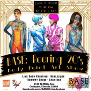 Base Orlando Roaring 20 S Body Paint Art Show Orlando Sentinel