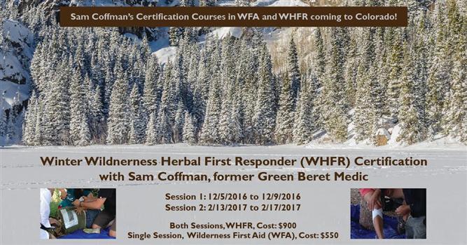 Wilderness Herbal First Responder Boulder Events