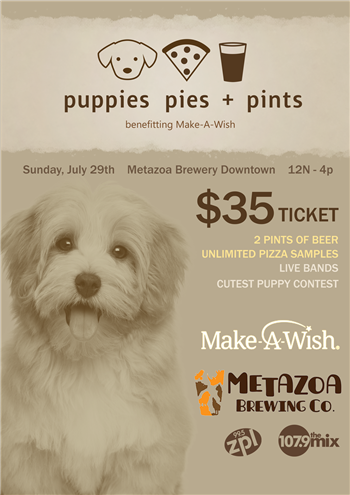 Puppies, Pies, and Pints WISH-TV/WNDY-TV Calendar