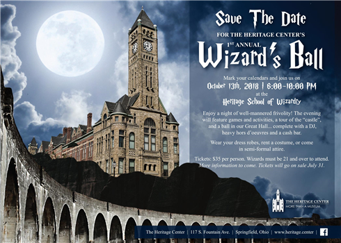 the heritage center s 1st annual wizard s ball wbdt tv calendar