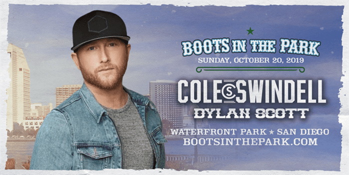 Boots in the Park , San Diego with Cole Swindell, Dylan